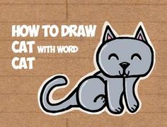 Learn how to draw a cute cartoon kitty cat from the word cat. This another tutorial in our fun cartoon words series. Have fun!