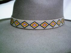 Native American Style Beaded Hat band Santiago Archuleta 1913 Replica | ajwhatbands - Accessories on ArtFire
