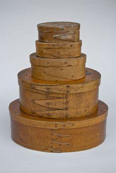 Antique Shaker boxes