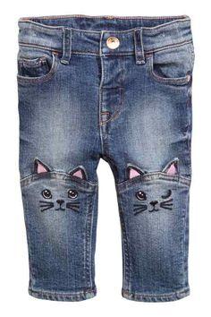 Jeans ricamati - H&M
