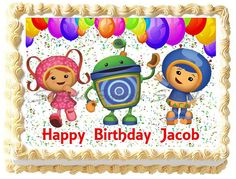 TEAM UMIZOOMI Edible image cake topper decoration  by Galimeli, $9.50