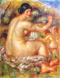 Dopo avere fatto il bagno di Pierre-Auguste Renoir