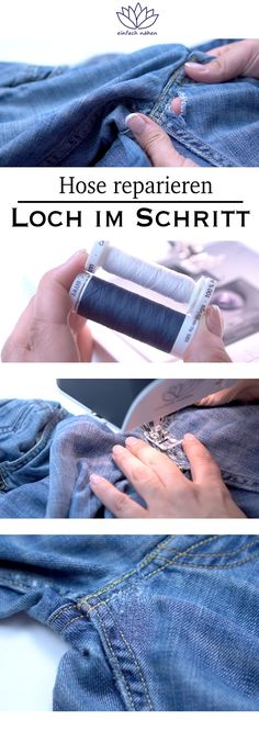 Fantastic Totally Free Sewing for beginners jeans Popular Hosen im Schritt rep. Fantastic Totally Free Sewing for beginners jeans Popular Hosen im Schritt reparieren – einfa Sewing Projects For Beginners, Crochet For Beginners, Sewing Tutorials, Sewing Patterns, Sewing Tips, Sewing Pants, Sewing Clothes, Diy Mode, Leftover Fabric