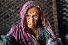 elderly Rabari woman