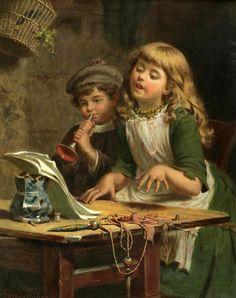 Английский художник Edwin Thomas Roberts (1840-1917)