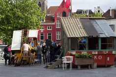 Live news: on-going community built project #Straatlokaal #TemporaryUse #Recycle www.foundationprojects.eu