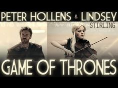 lindsey stirling and peter hollens! game of thrones cover. her violin and his voice only! <3