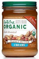 Santa Cruz Organic Peanut Butter Dark Roasted Creamy -- 16 oz $5.69 (save $1.70)