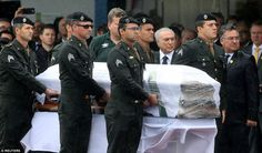 Brazilian president Michel Temer received Thiaguinho's coffin as it was taken off the airc...