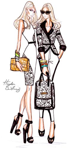 Hayden Williams Fashion Illustrations: Hayden Williams RTW Spring/Summer 2012: Backstage