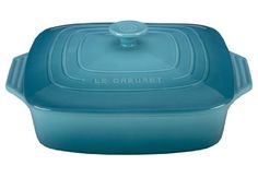 Le Creuset Stoneware Covered Square Casserole 95Inch Caribbean * Read more at the affiliate link Amazon.com on image.