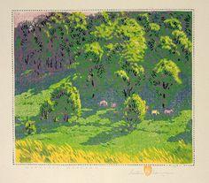 Woodland Meadows: Gustave Baumann, 1917.