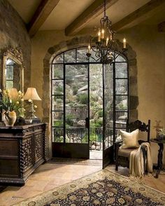 Fancy french country living room decor ideas (31)