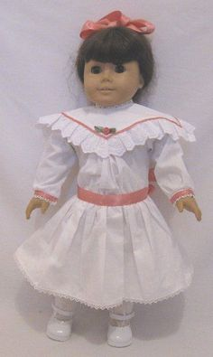 """Doll Clothes AG 18"""" Samantha White Victorian Dress Made For American Girl Dolls #WholesaleDollClothes #Victorian"""