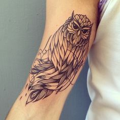 Owl Tattoo by Supakitch
