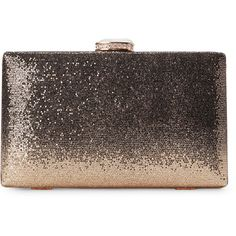 Natasha Gold-tone Sequin Minaudiere ($40) ❤ liked on Polyvore featuring bags, handbags, clutches, accessories, metallic, brown handbags, clasp purse, sequin clutches, metallic handbags and sequin handbags