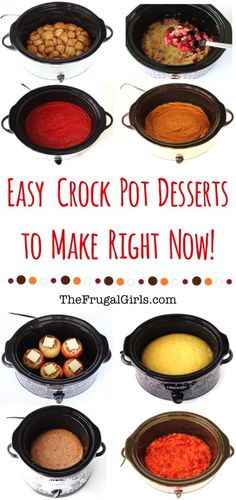 19 Easy Crockpot Desserts to make Right Now! ~ from TheFrugalGirls.com ~ these ridiculously delicious dessert recipes couldn't be easier!  Your friends and family will thank you, and it's our secret how easy dessert was to make! #thefrugalgirls