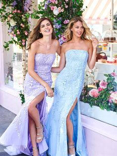 Buy dress style № 53345 designed by SherriHill Sherri Hill Prom Dresses, Homecoming Dresses, Homecoming Queen, Gown With Slit, Strapless Dress Formal, Formal Dresses, Formal Wear, Dress Long, Most Beautiful Dresses