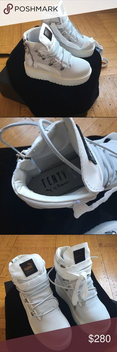 Puma Fenty sneaker boot Puma x Fenty sneaker boots. Brand new never worn before! Women's size 7 comes with box and dust bag. Puma Shoes