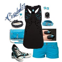 Black and Blue by crzrdnk77 on Polyvore