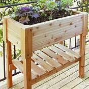 Rectangle Wooden Planter Box - 24 3/4in Tall Raised Garden Planters, Raised Planter Beds, Raised Garden Beds, Raised Beds, Box Garden, Balcony Gardening, Raised Patio, Garden Oasis, Easy Garden