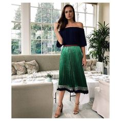 S T U N N I N G @imogenleaver in the QUIN off shoulder top & LYNX skirt!  Shop our new arrivals now.