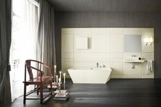 Freistehende badewanne raffinierten look  Freistehende Badewanne aus Holz lädt zur Entspannung ein #badewanne ...