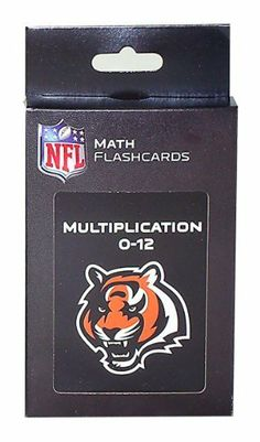 NFL Cincinnati Bengals Multiplication Flash Cards by KE Specialties. $7.11. Large, 3 1/2 x 5 1/2 Cards Makes it Easy for Kids to Handle and Read.. A Proven Learning Tool That Helps Reinforce and Build Math Skills. Goes Anywhere and Can be Used Alone or With Others. A Great Way to Interest Your Child in Math and Make Learning Fun. Includes One Box of Multiplication Flash Cards. Looking for an exciting way to help your child improve their multiplication facts? Th...