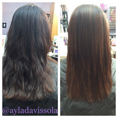Strengthen and smooth your hair with the #keratincomplex #keratintreatment  #ayladavis #ayla #willowglen #95125 #sanjose #408 #bayarea #salon #hairsalon #solasalon #solasalons #solasalonstudios #solasalonwillowglen #solasalonswillowglen #showmysola #hair #hairstyle #hairstylist #hairdresser #beautician #cosmetologist #style #stylist #beforeafter #straighthair