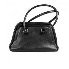 Stylogy Big Apple1 Black Leather Shoulder Bag(bag-shld07-00003-a)