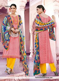 Printed Multicolor Pakistani Salwar Suit