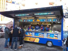 Better fries than the Flemish? You better believe it. Bram Ladage fries taste amazing, mainly because they  only use fresh potatoes (never frozen) and double fry the chips to make them extra crisp. Best eaten smothered in pinda sauce (peanut sauce) and frie sauce (mayonaise)