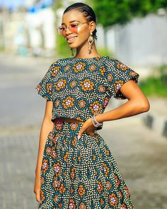 Angel Obasi's approved way of styling Ankara outfits.
