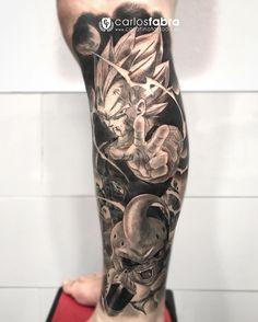 Vegeta vs Majin Boo para @wolfear_pode Muchas gracias por todo! Nos vemos en @cosafina_tattoo #tattoo #tattoos #dragonball #dragonballz #dragon #ball #Vegeta #boo #cosafinatattoo #carlosfabra #thebesttattooartists #thebestspaintattooartists