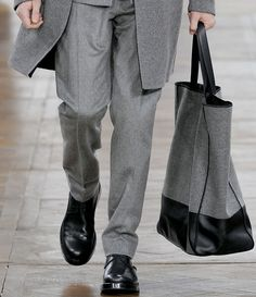 Dior Homme Leather Bottom Tote Fall 2012