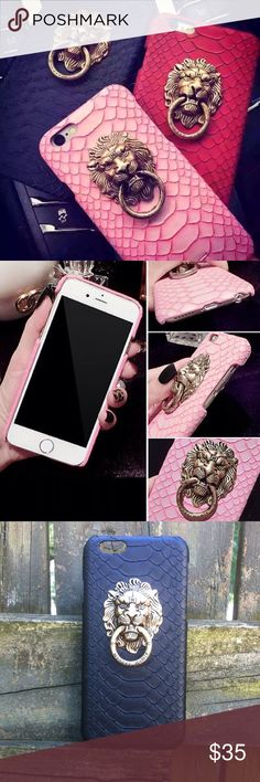 Cute lion iPhone 6 or 6 plus case. Ships within 1.5 weeks. Available in 3 colors. King Accessories Phone Cases