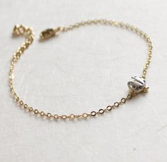 Hey, I found this really awesome Etsy listing at https://www.etsy.com/listing/111024687/dainty-ladybug-bracelet-everyday-jewelry
