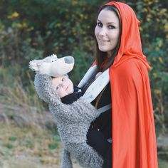 Pin for Later: 42 Adorable Halloween Costumes For Baby-Wearing Parents Big Bad Wolf (and Little Red Riding Hood)