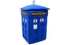 SALE  TARDIS Doctor Who felt sci fi collectible by TheHouseOfMouse