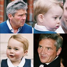 George and grandpa Middleton and their familiar (or familial) facial expressions