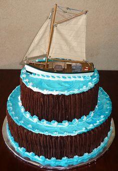 Grooms Cakes   Sailboat Groom's Cake