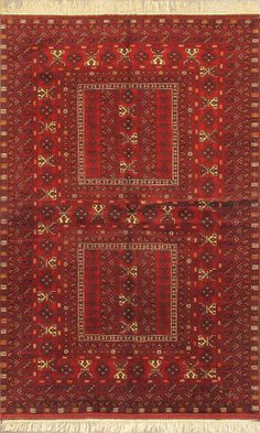 "Hand-knotted Afghan Carpet 5'2"" x 8'0"" Finest Khal Mohammadi Tribal  Wool Rug"