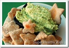 Green monster mystery dip (made with endamame, which my girls love!)
