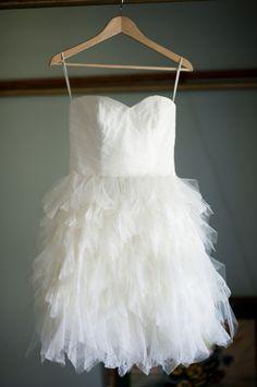 precious short wedding dress by Anne Barge // photo by LaurenLarsenBlog.com