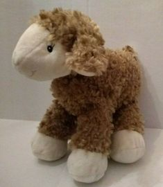 "Best Made Toys Lamb Sheep Brown Cream Eyelashes Target Plush 9"" Stuffed Lovey #BestMadeToys Bean Bag Newborn, Easter Lamb, White Puppies, Baby Ducks, Brown Dog, Animal Pillows, Valentine Heart, Red Sweaters, Cool Things To Make"