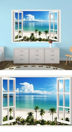 IMPRESSIVE 3D WINDOW WALL DECALS, REMOVABLE WALL STICKERS, WALL DECOR #3ddecals #3dwalldecals #3dwindowwalldecals #windowdecals #walldecals #decalforwalls #wallstickers #wallmurals 3d Wall Decals, Removable Wall Stickers, Wall Decor Stickers, Window Decals, Window Wall, Wall Murals, Wall Art, Living Spaces, How To Remove