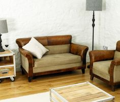 Baudouin Retro Reverie Leather Two Seater Double Sofa by Bonsoni