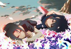 Itachi and Sasuke Uchiha brothers #Naruto