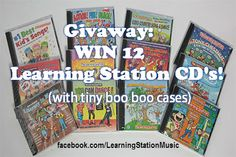 #Giveaway! 12 award-winning Learning Station CD's. The cases have slight imperfections but the CD's are just fine. Check out this blog and see what you can win... it's HUGE!   These action songs inspire children's creative imagination through interactive music, activities and dance. All CD's come with a booklet that contains the lyrics and actions! (Retail value $180.00)  Good luck to ALL!