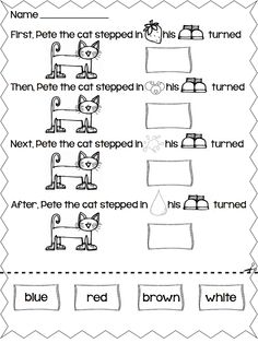 Pete the Cat  I Love My White Shoes  story retelling and